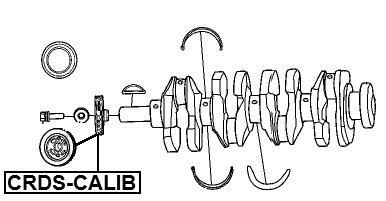 Crankshaft Pulley Engine for Chrysler Febest Crds-calib 1