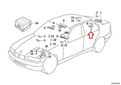 Bmw Genuine Trunk Light for 320i 4td 8ei 535i M5 318is 5e