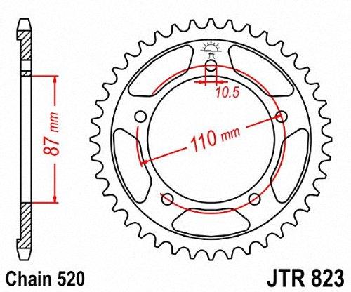 Jt Sprockets Jtr823 39 39t Steel Rear Sprocket