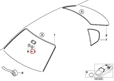 Bmw Genuine Inside Mirror Manually Dippable Base Plate F
