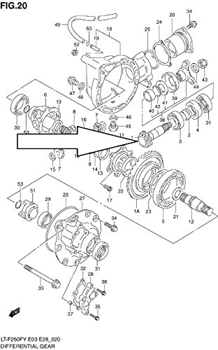 Suzuki Front Driven Bevel Gear for Lt-4wd Lt-f250f Lt