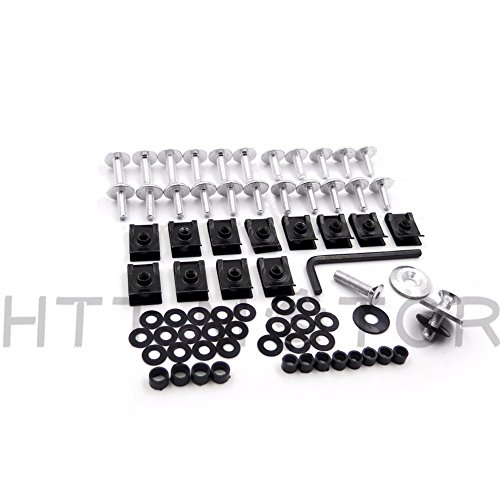 Xkmt Group Motorcycle Silver Round Normal Fairing Bolts