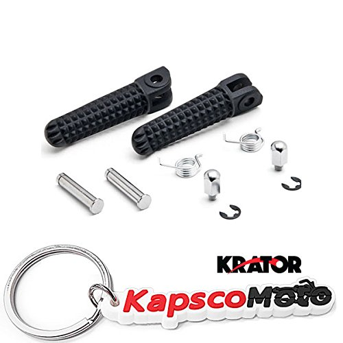 Krator Black Front Foot Rest Pegs for Yamaha Yzf R1 R6 R6s