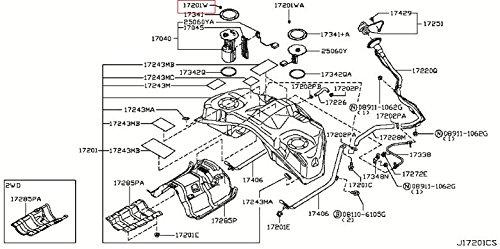 Infiniti Genuine Fuel Engine Control Tank Screw 01436