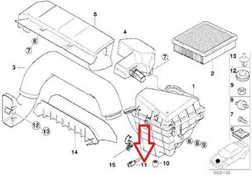Bmw Oem Air Temperature Sensor Engine Intake E31 6 8 9 E46