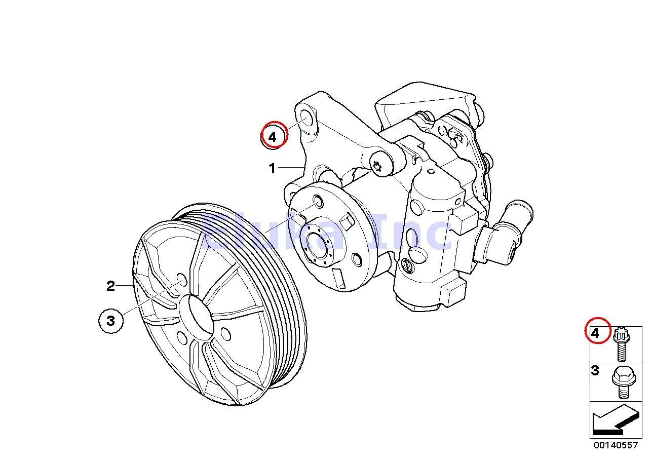 2 X Bmw Coolant Lines Power Steering Pump Aluminum Bolt