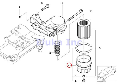 Bmw Genuine Lubrication System Cover Cap for Oil Filter
