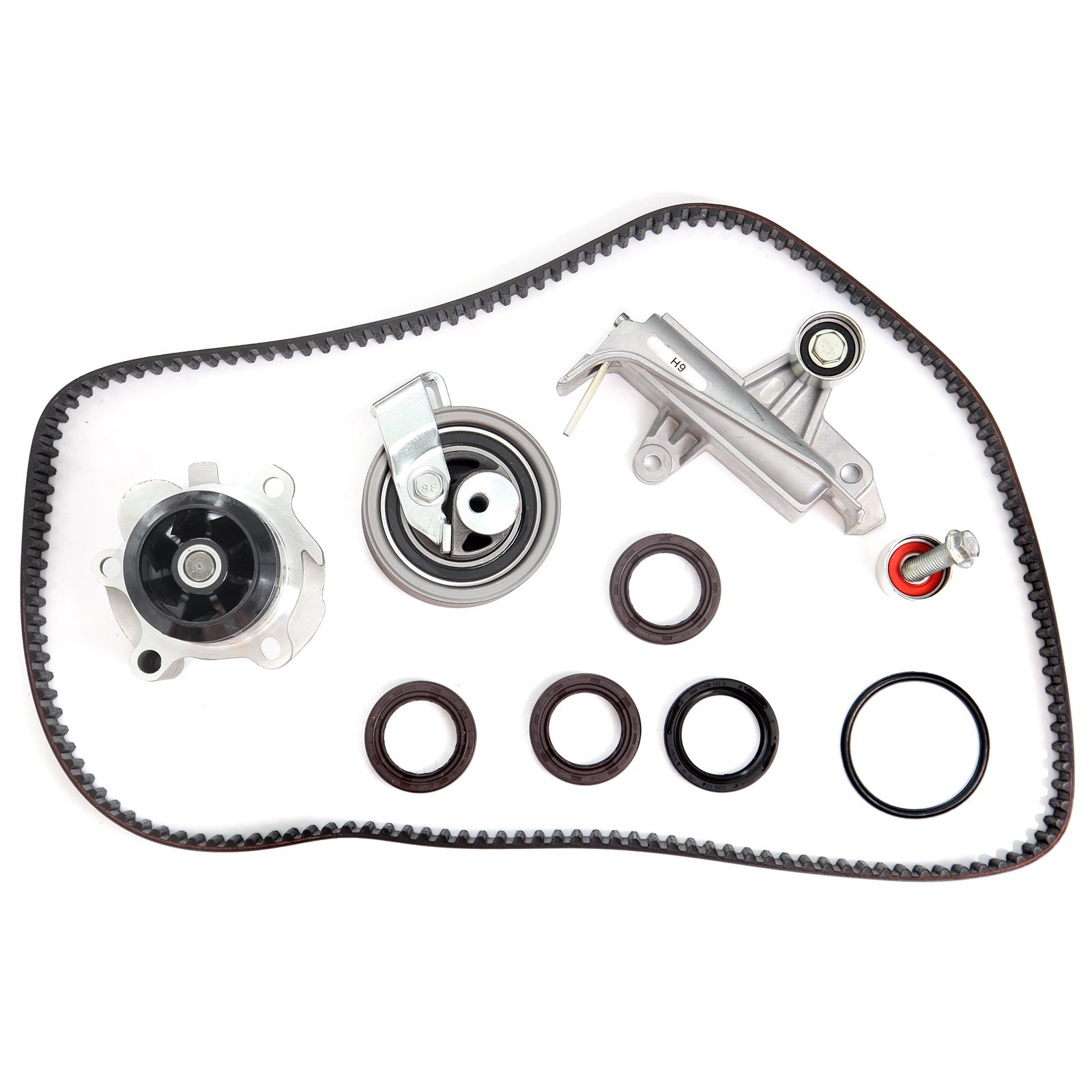 Scitoo Timing Belt Water Pump Hydraulic Tensioner Kit Fits