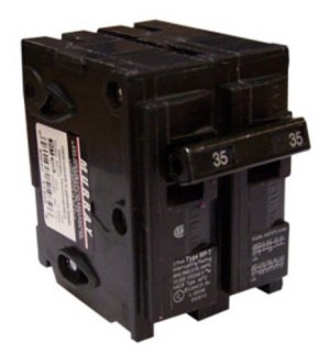Murray Mp235 120 240volt Plug in Style 35amp Double Pole Circuit Breaker