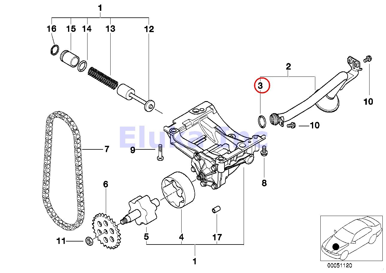 Bmw Genuine O Ring Engine Lubrication Oil Pump To Pickup