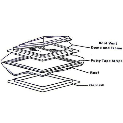 Rv Motorhome Complete Universal Roof Vent Lid Replacement
