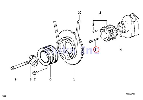 4 X Bmw Genuine Bolt Clutch Pressure Plate to Flywheel 6