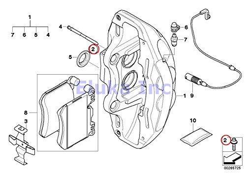 4 X Bmw Genuine Front Left Right Caliper Bracket Bolt to