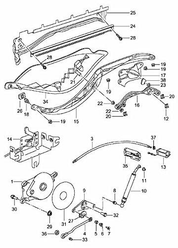 986-561-717-03 1997-2007 Porsche Boxster Cable