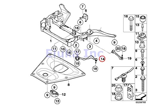 Bmw Oem Axle Control Arm with Bushing Tension Strut Front
