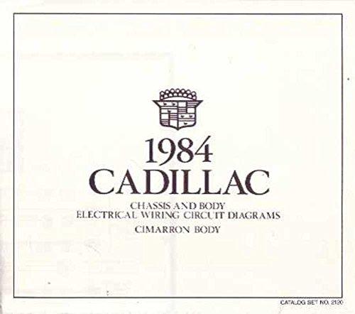 1984 Cadillac Cimarron Wiring Diagrams Factory Oem