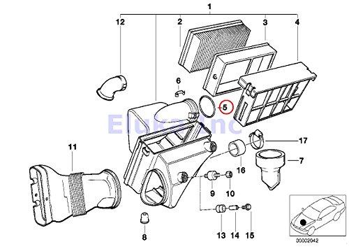 Bmw Genuine O-ring Air Mass Sensor to Filter Housing 91 X