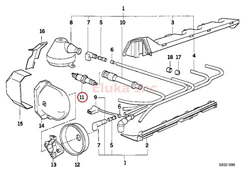 6 X Bmw Spark Plug Nkg Bkr6ek 2288 E30 E31 E32 E34 E36 E38