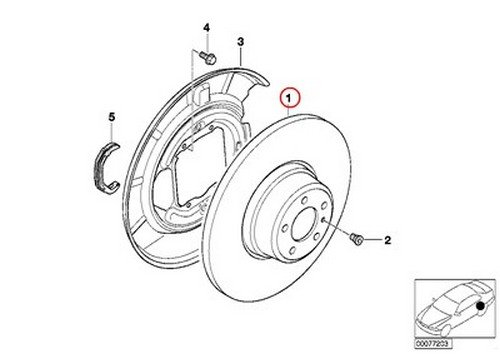 Bmw Zimmermann Rear Brake Disc Rotor E39 525 528 540 525i