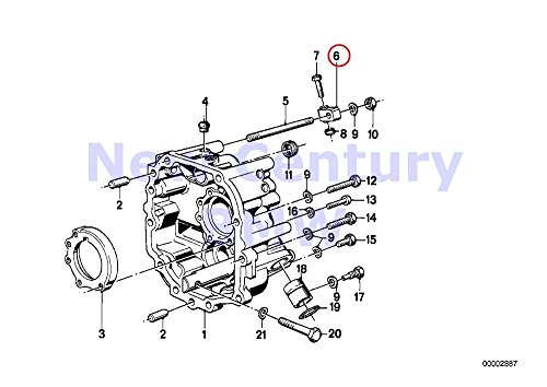 2 X Bmw Genuine Gearshift Manual Transmission Supporting