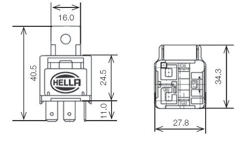 Hella 003530041 12v 25 Amp Spst Mini Iso Relay with Fuse