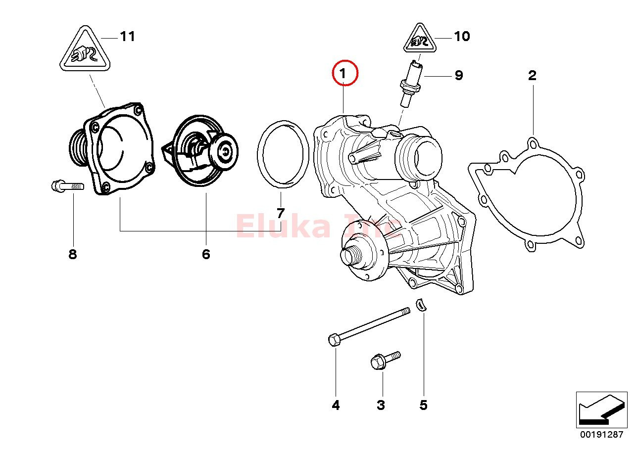 Bmw Cooling System Thermostat Waterpump Water Pump E31 E38