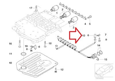 Bmw Genuine Wiring Harness for Automatic Trans A5s 0z