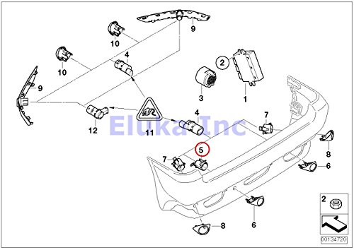 BMW Genuine Rear Left Right Inner Partking Distance Pdc