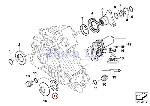 Bmw Genuine Seal Transfer Case Output Shaft Fronta X5 3 0i