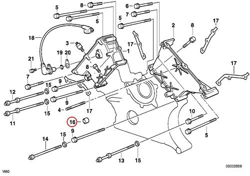 BMW Genuine Gasket Ring for Timing Cover 8.1 X 3.5 X 7.7