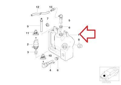 BMW Genuine Washer Fluid Reservoir with Level Sensor
