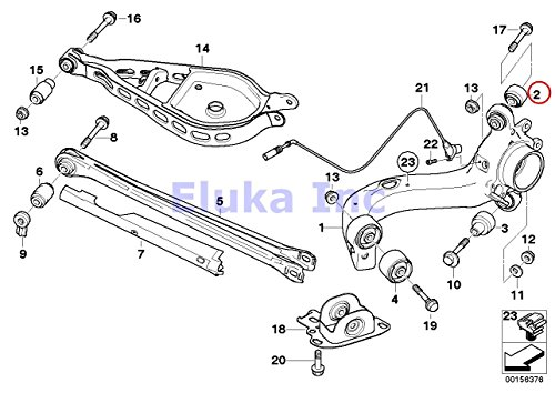 2 x BMW OEM Trailing to Control Arm Rear Left Right Upper