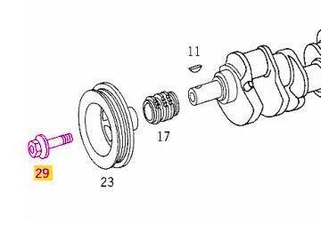 Mercedes w211 w215 w220 r230 AMG Crankshaft Pulley Bolt