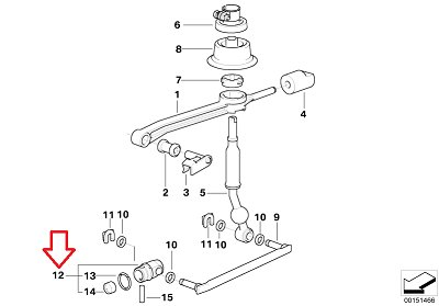 Bmw Genuine Shift Rod Joint Manual Transmission for 525i