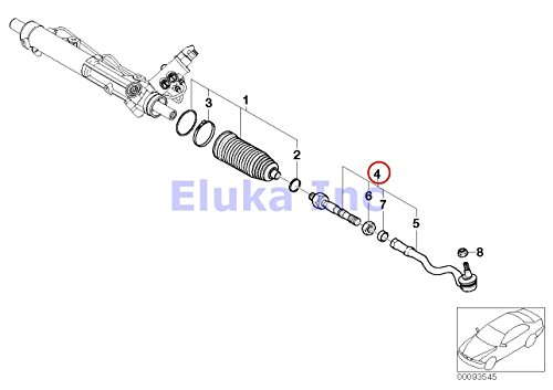 2 x BMW OEM Steering Linkage Left Right Tie Rod Assembly