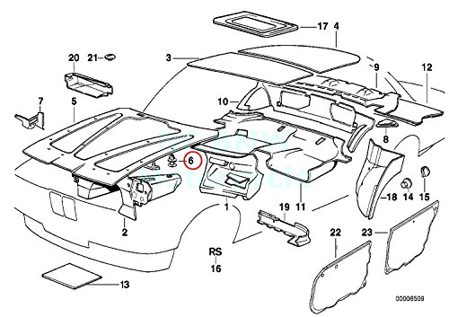 Bmw Genuine Engine Hood Trunk Lid Closing System Stop