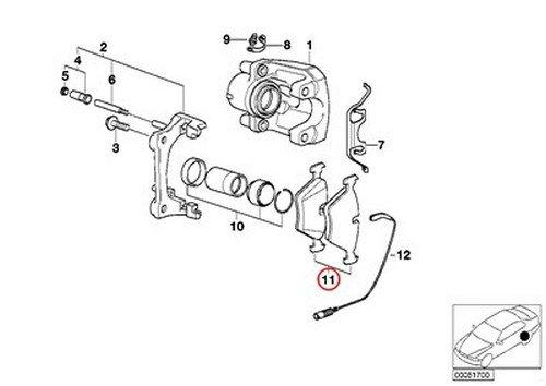 BMW OEM Textar Rear Brake Pad Pads E46 330i 330Ci 330xi