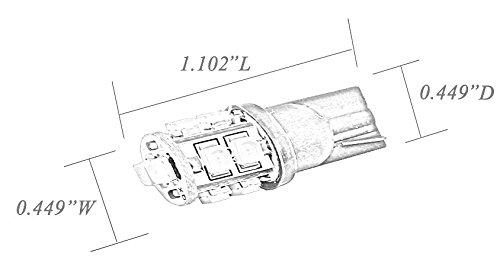 Modit T10 10-SMD LED Wedge Bulbs W5W 194 168 2825