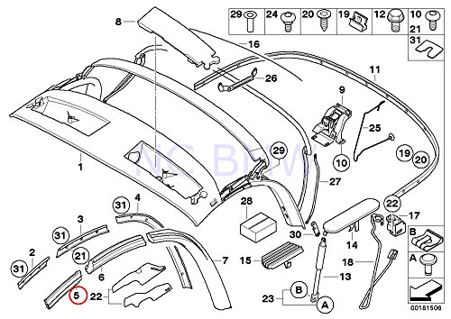 BMW Genuine Front Left Window Guide