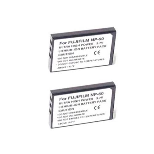Excelshots 2 Pack Power Battery with Charger for Fuji Np