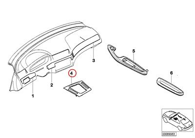 BMW Genuine Brushed Décor Shift Knob Base Trim Aluminum