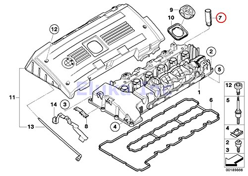 6 X Bmw Genuine Engine Cylinder Head Spark Plug Tube 528i