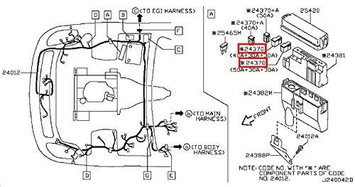 2003-2015 Nissan 350z Nv200 Positive Battery Fusible Fuse