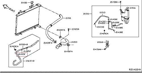 Infiniti 01558-00451, Auto Trans Oil Cooler Hose