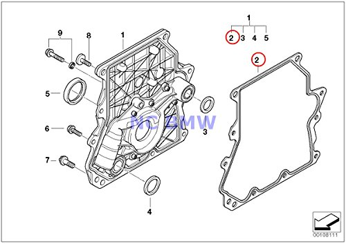 BMW Mini Timing Cover Profile Gasket Cooper S Coop.S JCW
