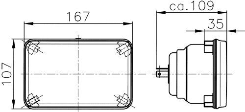 Hella 003177821 164x103mm H1 High Beam Halogen Conversion