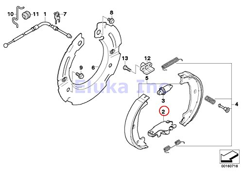 2 X Bmw Genuine Brake Service Parking Actuator Expanding