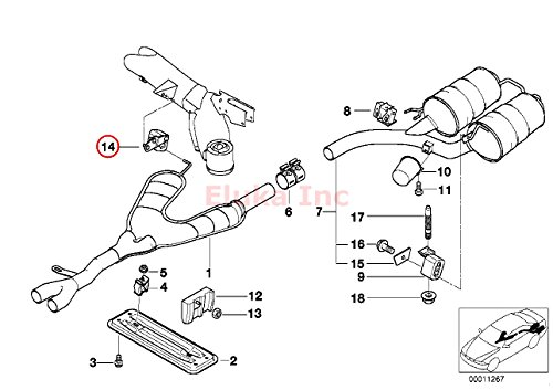 BMW Exhaust Hanger Center E39 525i 528i 530i 540i 540iP