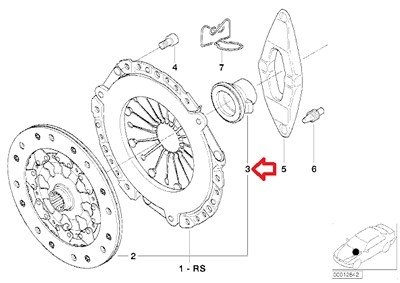 BMW Genuine Clutch Release Bearing for 528i 530i 320i 733i