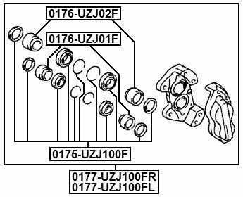 Febest 0276-e11f Front Brake Cylinder Piston